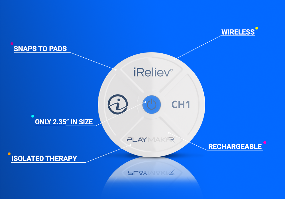 PlayMakar from iReliev - portable, wireless EMS that packs a punch