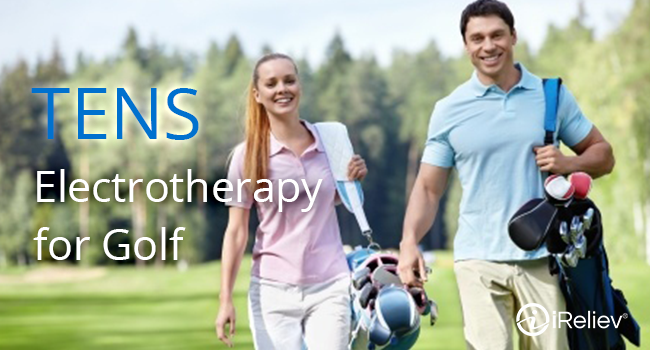 Ease golf-related pain using electrotherapy