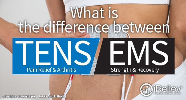 Learn the difference between TENS and EMS
