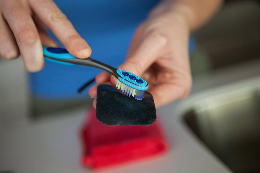 Cleaning off an Electrode Pad for a TENS Unit