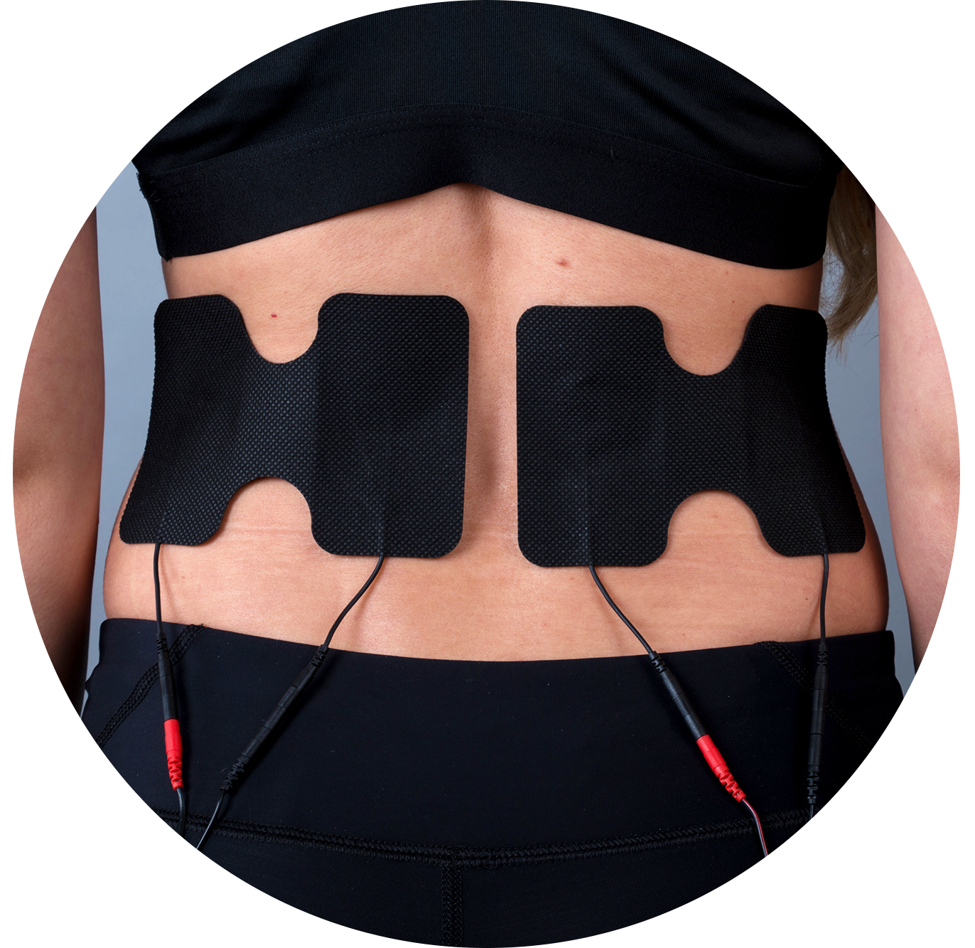 Lower back TENS pad placement