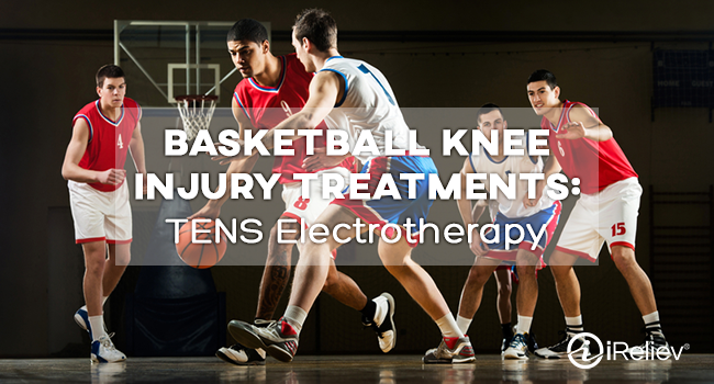 TENS electrotherapy can treat basketball knee injuries