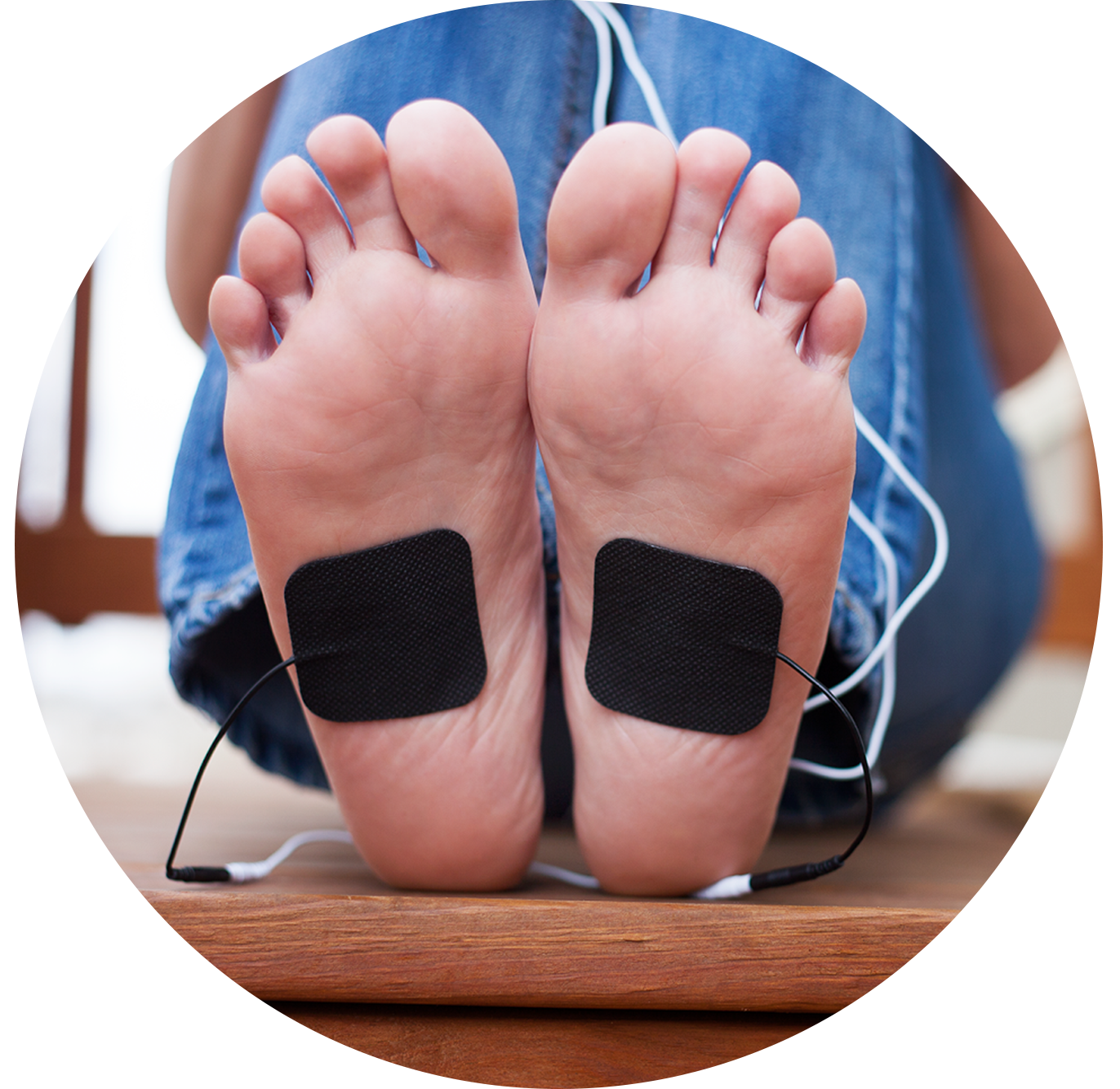 TENS Therapy Electrode placement for foot pain