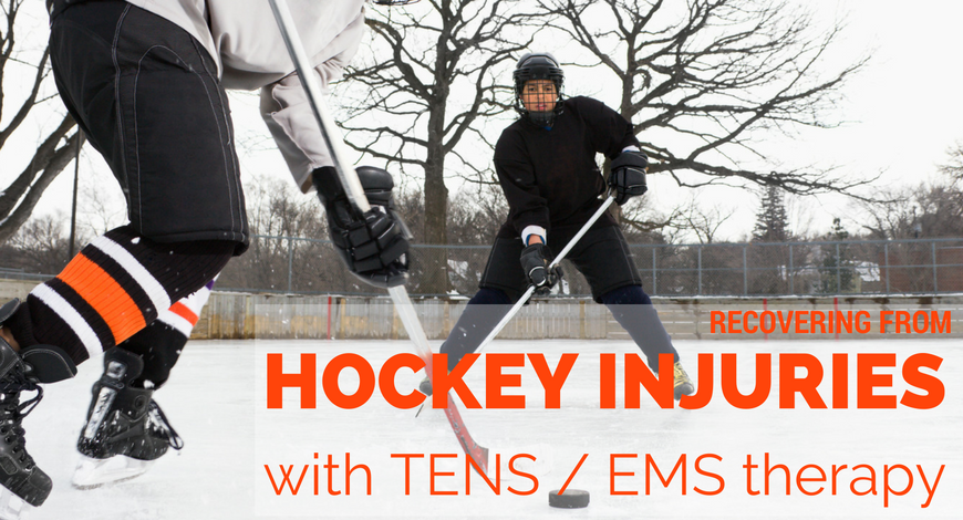 Relieve hockey-related pain using iReliev's TENS & EMS electrotherapy