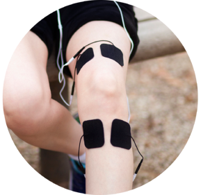TENS pad placement for knee pain