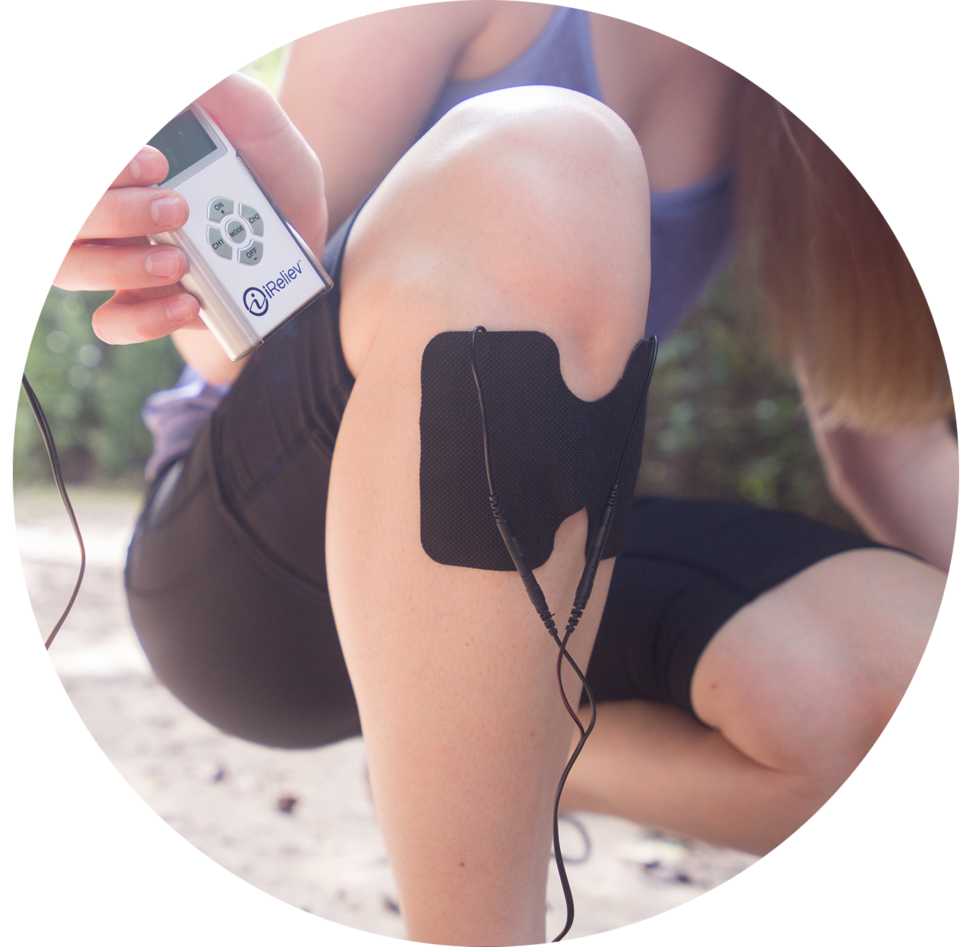 TENS pad placement for baseball injuries