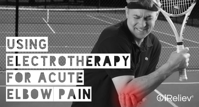 using electrotherapy for acute elbow pain