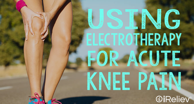 using electrotherapy for acute knee pain